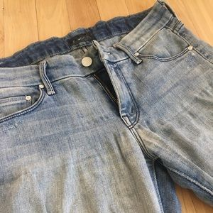Mother ankle fray skinny jean